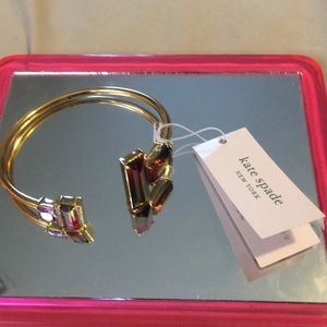 NWT Kate Spade Pavé & Ombré Crystal Cuff Bracelet